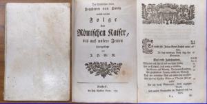 Canitz, Freyherr von : Folge der Römischen Kaiser, bis auf unsere Zeiten fortgesetzt von J.H.G.R.