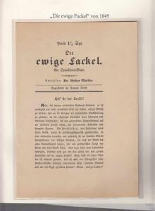 Berlin-Archiv. - BerlinArchiv (Hrsg.v. Hans-Werner Klünner und Helmut Börsch-Supan): Lieferung BE 01056 - Die ewige Fackel. Flugschrift von Dr. Arthur Mueller aus dem Jahre 1849. Faksimile.