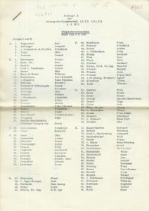 Deutscher Aero Club E.V. - Anlage A zur Satzung der Gemeinschaft ALTE ADLER § 3 (II): Mitgliederverzeichnis, Stand vom 1.4.196; Landesgruppe Berlin, Mitgliederverzeichnis, Stand vom 1.4.1962; Landesgruppe Berlin, Förderer - Besucher, Stand vom 1.4.1962...