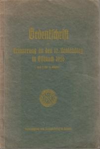 Neulandtag Eisenach. - Gedenkschrift zur Erinnerung an den 10. Neulandtag in Eisenach 1926 vom 2. bis 10. Oktober.