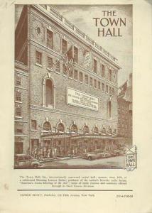 Town Hall. - Programmheft zu: Town Hall, Season 1952-1953. 'Anna Russell'. International Concert Comedienne.
