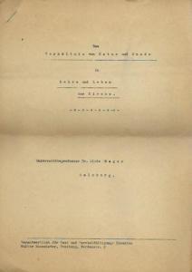 Mager, Alois (1883 - 1946): Das Verhältnis von Natur und Gnade in Lehre und Leben der Kirche.