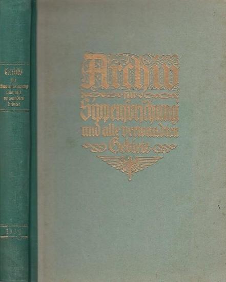 Wentscher, Erich (Schriftleitung): Archiv für Sippenforschung und alle verwandten Gebiete. 7. Jahrgang, 1930. Heft 1-12 und Inhaltsübersicht zum 5. Jahrgang in einem Band.
