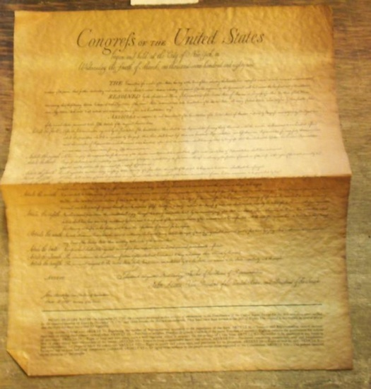 USA. - Congress of the United states. - bill of rights. - Frederick Augustus Muhlenberg. - John Adams. - Congress of the United states. Faksimile. Begun and held at the city of New York, on Wednesday the fourth of march, one thousand seven hundred and eig