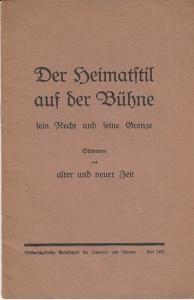 Originalbroschur, 22 x 14 cm, 21 Seiten, gut erhalten