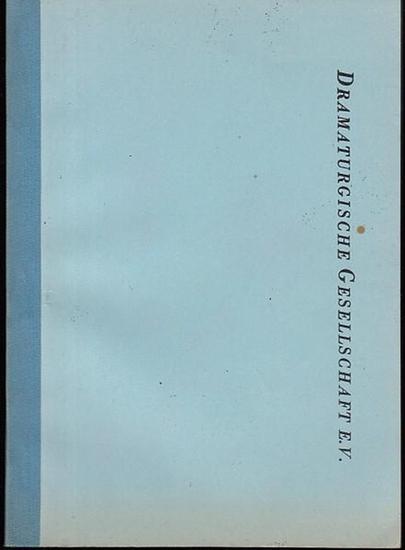 Dramaturgische Gesellschaft. - Dramaturgische Gesellschaft. Mitgliederverzeichnis. (Stand 1. 1. 1972).