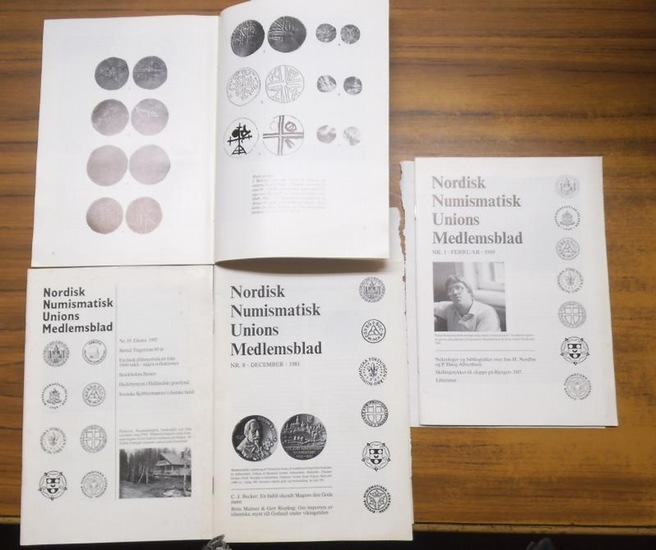 Nordisk numismatisk unions medlemsblad. - Jorgen Steen Jensen (Hoveredaktor). - Nordisk numismatisk unions medlemsblad. Convolute / Konvolut 1981 - 1992. Indeholder (enthalten, containing): 1981, No. 8 / 1988, No. 1 - 8 komplet / 1989, No. 1 / 1990, No. 1 0