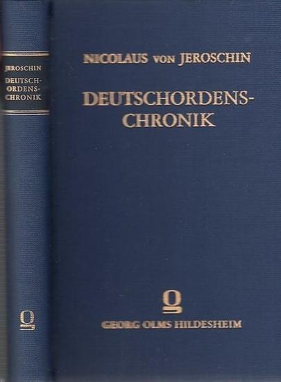 Jeroschin, Nicolaus von Deutschordens-Chronik. Ein Beitrag zur Geschichte der mitteldeutschen Sprache und Literatur von Franz Pfeiffer. 0