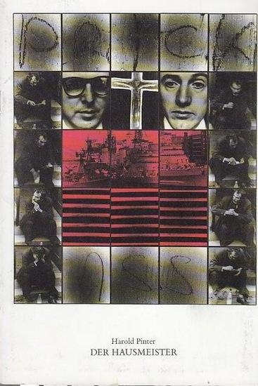 Pinter, Harold / Übersetzung von Willy H.Thiem / Hrsg. V.Staatlichen Schauspielbühnen Berlin / Heribert Sasse Der Hausmeister. Spielplan Heft Nr.102. Spielzeit 1989 / 90.