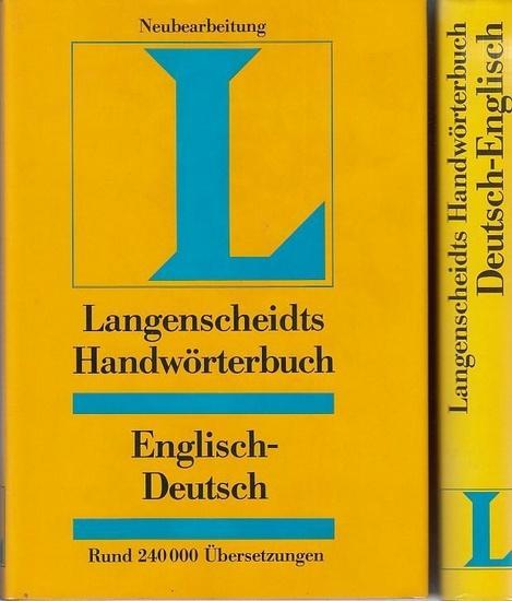 Englisch. - Messinger, Heinz (Bearb.): Langenscheidts Handwörterbuch Englisch. Kpl. in 2 Bänden. Teil I Englisch-Deutsch. Teil II: Deutsch-Englisch.