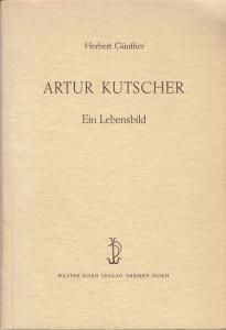 Originalbroschur, 24 x 16 cm, 64 Seiten mit Frontispiz Porträt Kutscher. Gut erhalten.