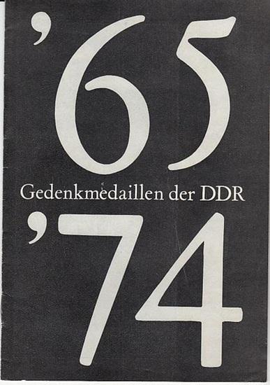Hrsg. Kulturbund der DDR. / Numismatik. 65 Gedenkmedaillen der DDR '74. 0