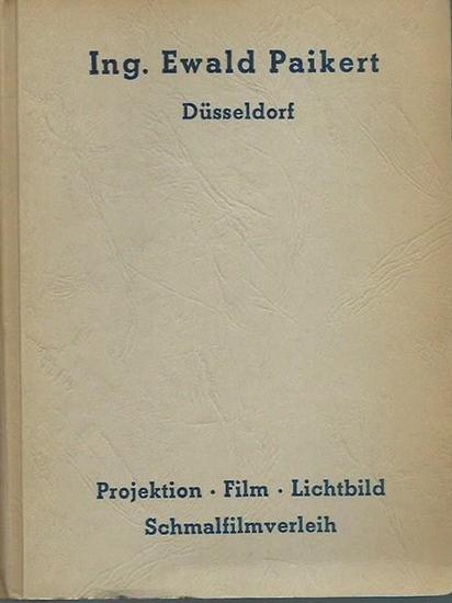 Paikert, Ing. Ewald (Düsseldorf): Ewald Paikert, Schmalfilm - Apparaturen, Großer Schmalfilm-Verleih, Projektionsgeräte aller Art. Film-Katalog [1969]. Paikert Film 16 mm Schmalfilme. Sortierung: Gruppe A - D und S (Sonderstaffel). 0