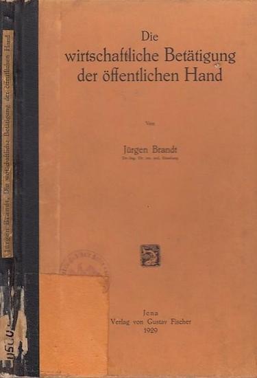 Brandt, Jürgen: Die wirtschaftliche Betätigung der öffentlichen Hand. 0