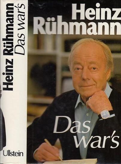Rühmann, Heinz: Das war's : Erinnerungen. 0