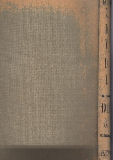 Zeitschrift Verein Deutscher Ingenieure (VDI) (Hrsg): Zeitschrift des Vereines Deutscher Ingenieure. Band 55, 1911. Enthalten sind die Nr. 17, vom 29. April 1911 - Nr. 25 vom 24. Juni 1911. (Rückentitel Z.D.V.D.I. 1911, 3.) 0