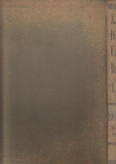 Zeitschrift Verein Deutscher Ingenieure (VDI) (Hrsg): Zeitschrift des Vereines Deutscher Ingenieure. Band 52, 1908. Enthalten sind die Nr. 9, vom 29. Februar 1908 - Nr. 17 vom 25. April 1908. (Rückentitel Z.D.V.D.I. 1908, 2.) 0