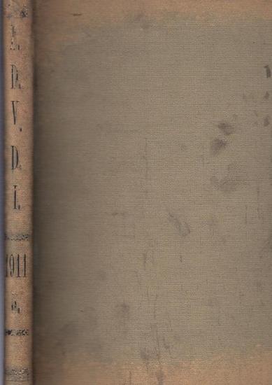 Zeitschrift Verein Deutscher Ingenieure (VDI) (Hrsg): Zeitschrift des Vereines Deutscher Ingenieure. Band 55, 1911. Enthalten sind die Nr. 35, vom 2. September 1911 - Nr. 43 vom 28. Oktober 1911. (Rückentitel Z.D.V.D.I. 1911) 0