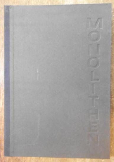 Weber, Thomas H. (Illustrationen). - Brocan, Jürgen (Text). - Hrsg.: Maximilian Barck: Monolithen. Siebdrucke von Thomas H. Weber. 0