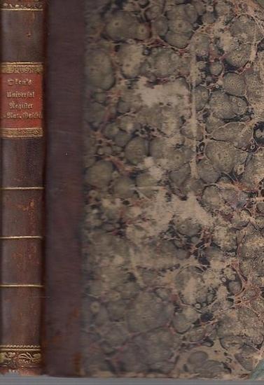 Oken, [Lorenz] - Universalregister: Universal - Register zu Okens allgemeiner Naturgeschichte.