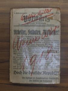 Müller, Walter / John Heartfield (Illu.): Wenn wir 1918. Eine realpolitische Utopie.