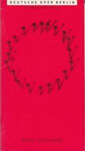 Berlin, Deutsche Oper, Oper nach A. S. Puschkin u. Karamsin, Musik Mussorgskij, M. P. Boris Godunow. Neuinszenierung / Premiere. Spielzeit 1995. Generalintendant Götz, Friedrich / Musikalische Leitung Burgos, Rafael Frühbeck de. Inszenierung Friedrich,...