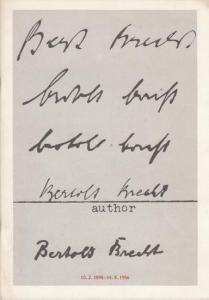 Berliner Ensemble. - Gespräch mit Wekwerth, Manfred / Schall, Ekkehard. U.A. Hrsg. Zum 90.Geburtstag v. B.Brecht 1988. Brecht spielen - gestern - heute - morgen. Aufbau des Berliner Ensemble 1949 / 1950.
