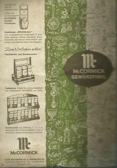 McCormick. - McCormick Gewürzfibel. Das ABC der McCormick Gewürze. Die magische Kunst des Würzens. Faltblatt mit Gewürzhinweisen.