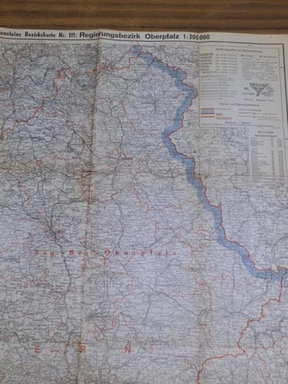 Oberpfalz. - Ravenstein. - Ravensteins Bezirkskarte Nr. 111: Regierungsbezirk Oberpfalz. Maßstab 1:200 000.