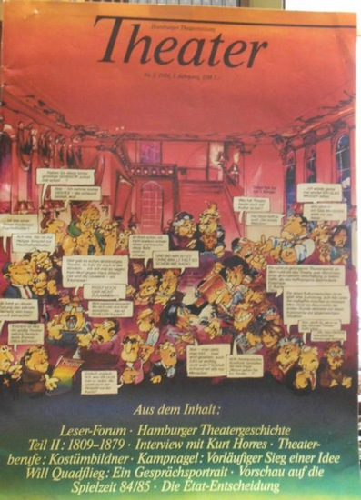Hamburger Theater-Zeitung / GDS - Studio (Hrsg.) - Marilen Andrist u.a. (Red.): Theater - Hamburger Theaterzeitung. Nr. 3, 1984. 1. Jahrgang.