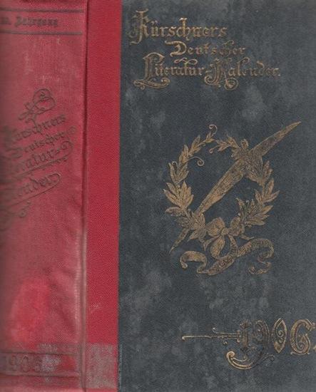 Kürschner LiteraturKalender. - Heinrich Klenz (Hrsg.): Kürschners Deutscher Literatur - Kalender auf das Jahr 1906. Hrsg. von Dr. Heinrich Klenz. Achtundzwanzigster (28.) Jahrgang.