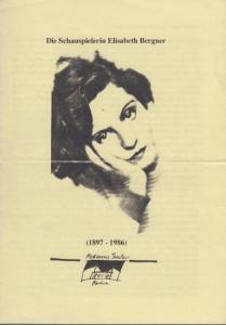 Bergner, Elisabeth. - Dresel, Herbert. - Berlin, Modernes Theater. An die Schauspielerin Elisabeth Bergner. ( 1897 - 1986 ). Brief von Herbert Dresel.