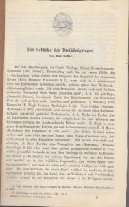 Höfler, Max: Die Gebäcke des Dreikönigstages. (Sonderdruck aus der Zeitschrift des Vereins für Volkskunde, hrsg. von Fritz Boehm - Berliner Gesellschaft für Volkskunde , XXIV. Jahrgang, Heft 3, 1914).
