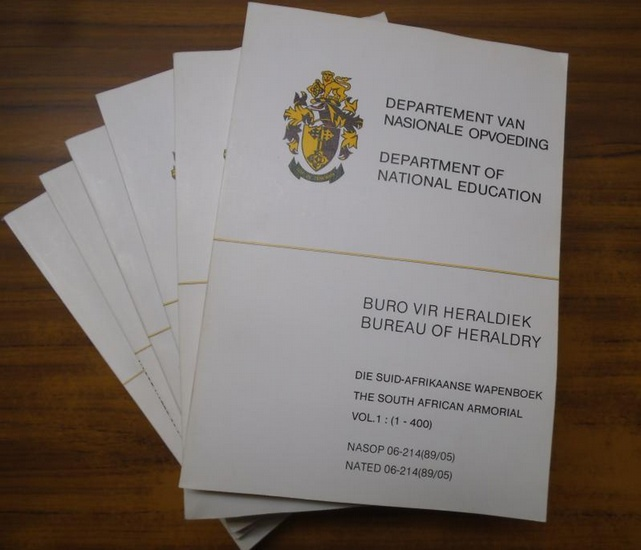 Brownell, Frederick Gordon (State Herald). - Department of National Education: The South African Armorial being a computerized Register fo heraldic Representations registered with the Bureau of Heraldry under the Heraldic Act, 1962 ( Act 18 of 1962), as a