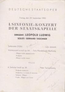 Originalbroschur, 20 x 15 cm, 4 Seiten, mit Bleistiftanmerkungen auf erster Seite, gut erhalten.