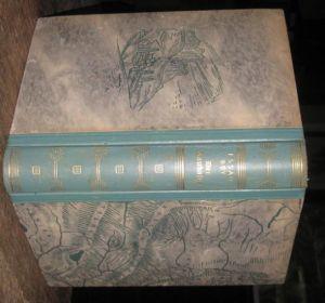 8°. Originalhalblederband mit illustrierten Deckeln und goldgeprägtem Rückentitel. Farbkopfschnitt und Lesebändchen. (4), 339 (+5) Seiten mit 33 Abbildungen auf Kunstdruckpapier und einer doppelblattgroßen Karte. Sauber und wohlerhalten.