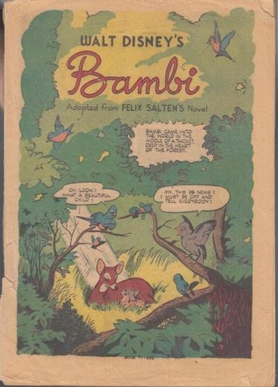 Disney, Walt. - Felix Salten. - Bambi. Adapted from Felix Salten ' snovel.