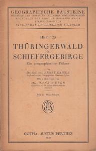 Kaiser, Ernst / Weber, Hans: Thüringerwald und Schiefergebirge. Ein geographischer Führer (= Geographische Bausteine, Heft 20. Schriften des Verbandes Deutscher Schulgeographen, herausgegeben von Friedrich Knieriem).