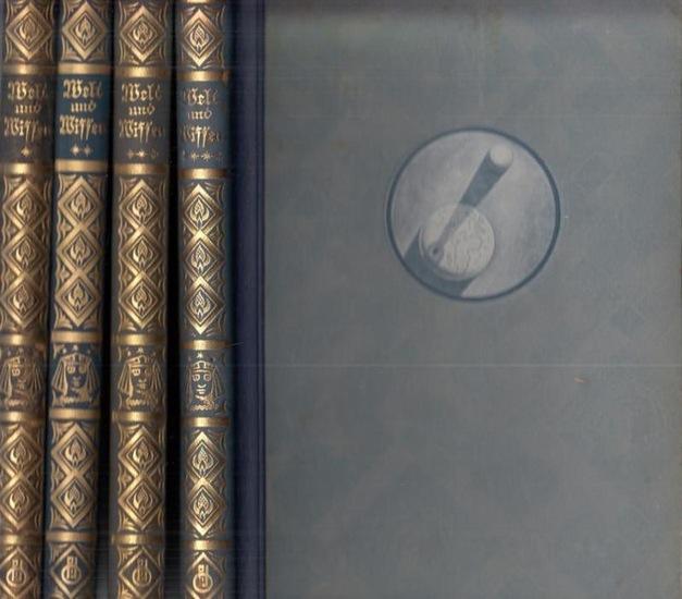 Welt und Wissen - Oestergaard, Alfred (Hrsg.): Welt und Wissen - Gemeinverständliche, belehrende und unterhaltende Darstellungen aus allen Wissensgebieten. Ausgabe 1931, komplett in 4 Bänden.