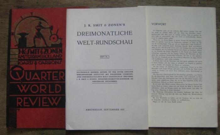 Smit & Zonen, J. K. (Hrsg.): Heft Nr. 8, September 1937. J. K. Smit & Zonen ' s Dreimonatliche Welt-Rundschau.