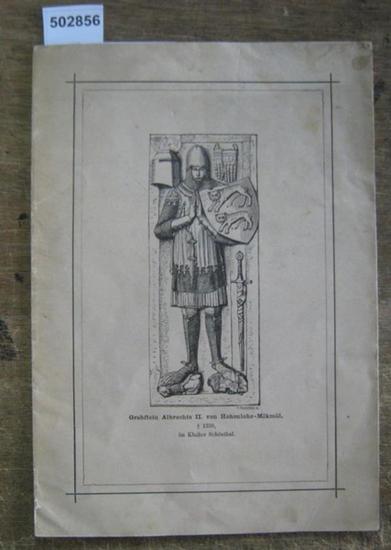 Hohenlohe - Waldenburg, F (riedrich) K (arl Joseph, Fürst) von: Das Hohenlohische Stammwappen.