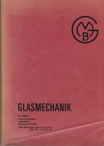 Stofer, W.: Glasmechanik. (Katalog Laboreinrichtungen, Labormöbel, Glasapperate-Fabrik)