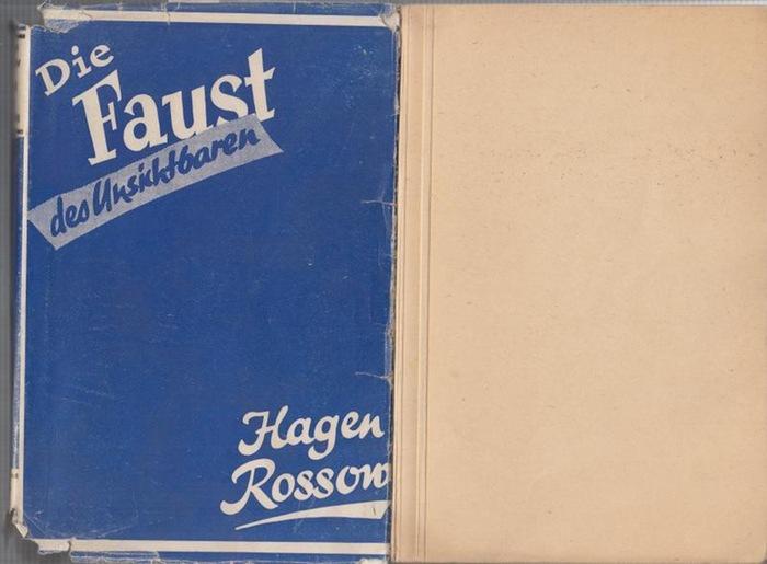Rossow, Hagen: Die Faust des Unsichtbaren. Kriminalroman.