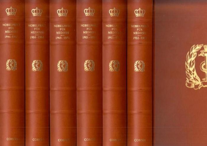 Nobelstiftung / Nobel-Stiftung - Sune Bergström (Vorwort): Nobelpreis für Medizin. Komplett in 6 Bänden 1901 - 1972. Dies ist die von der Nobelstiftung Stockholm autorisierte Ausgabe aller Texte und Dokumente zum Nobelpreis für Medizin in deutscher Spr...