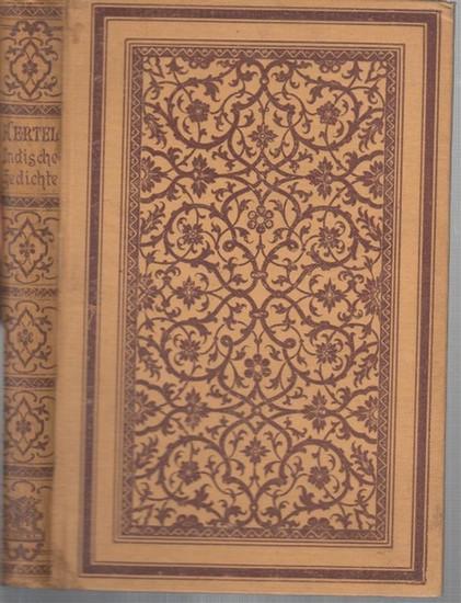 Hertel, Johannes ( aus dem Sanskrit übertragen ): Indische Gedichte.