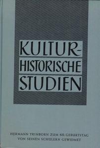 Bliss, Heinz u. a. - Hrsg.: Eckert, Georg / Oberem, Udo. - Hermann Trimborn zum 60. Geburtstag von seinen Schülern gewidmet (= Kulturhistorische Studien).