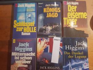 Higgins, Jack: Konvolut mit 6 Taschenbüchern: 1. Das Dunkel der Lagune. 2.Tag der Rache. 3. Mitternacht ist schon vorüber. 4.Der eiserne Tiger. 5.Königsjagd. 6.Schlüssel zur Hölle.