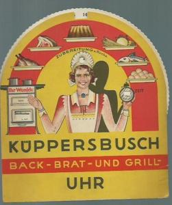 Küppersbusch. - Lindner GmBH, Berlin-Schöneberg, Grunewaldstraße 53. - Küppersbusch Back - Brat - und Grill - Uhr.