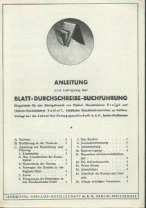 Drojgk und Radloff: Anleitung zum Lehrgang der Blatt - Durchschreibe - Buchführung.