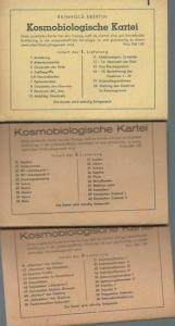 Ebertin, Reinhold: Kosmobiologische Kartei. Teile 1 - 3 (von 5) mit den Nummern 1 - 60. Beilage zum Mitteilungsblatt ' Kosmobiologie. '